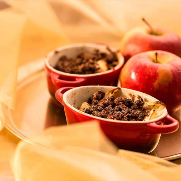 Zapekané jablkové crumble