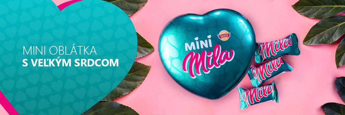 Srdce plné oblátok Mini Mila ❤